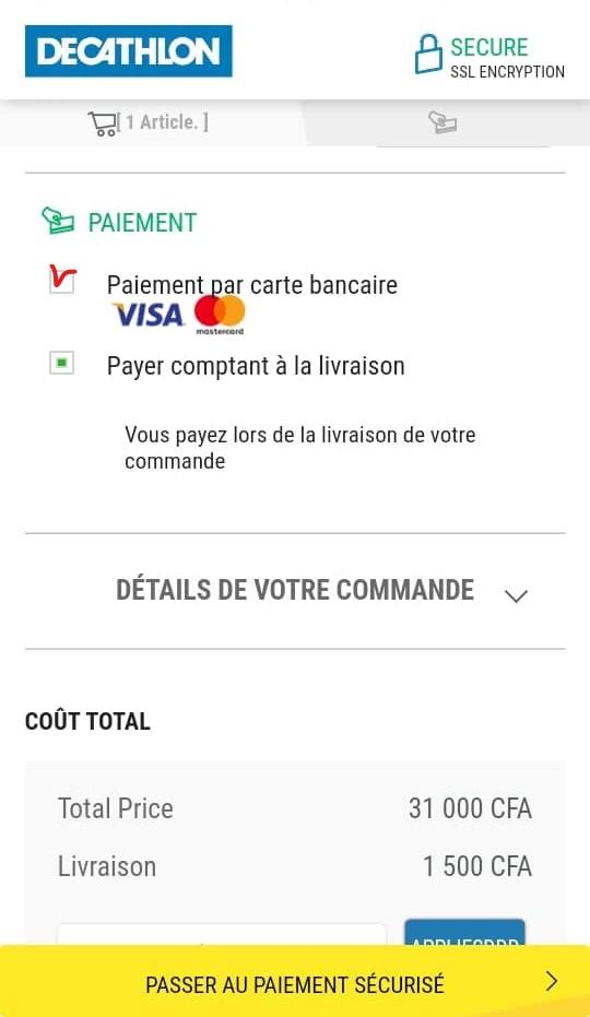 Payer avec votre carte VISA